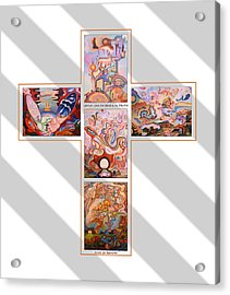 Jesus Of Advent G S Acrylic Print by Aswell Rowe