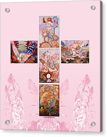 Jesus Of Advent P P Acrylic Print by Aswell Rowe