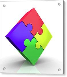 Jigsaw Puzzle Acrylic Print by Wladimir Bulgar