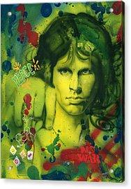 Jim Morrison Acrylic Print by Luis  Navarro