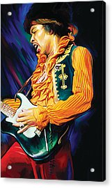 Jimi Hendrix Artwork Acrylic Print by Sheraz A