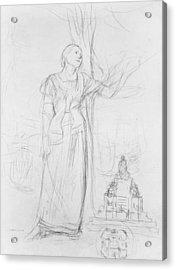 Joan Of Arc Acrylic Print