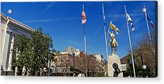 Joan Of Arc Maid Of Orleans Statue Acrylic Print by Panoramic Images
