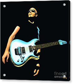 Joe Satriani Painting Acrylic Print by Paul Meijering