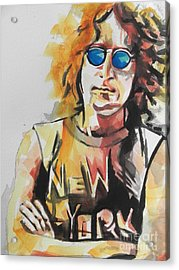 John Lennon 04 Acrylic Print by Chrisann Ellis