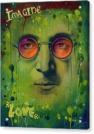 John Lennon Acrylic Print by Luis  Navarro