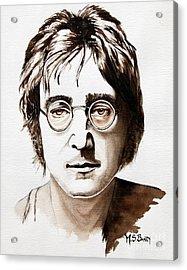 John Lennon Acrylic Print by Maria Barry