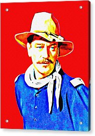 John Wayne In Rio Grande Acrylic Print by Art Cinema Gallery