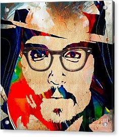 Johnny Depp Collection Acrylic Print by Marvin Blaine