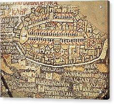 Jordan. Madaba. Basilica Of Saint Acrylic Print by Everett