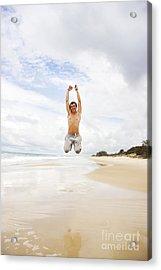 Joyful Jumper Acrylic Print by Jorgo Photography - Wall Art Gallery