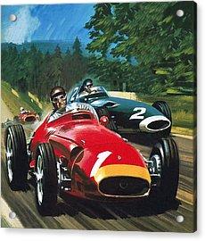 Juan Manuel Fangio Acrylic Print by Wilf Hardy