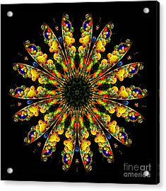 Kaleidoscope Of Blown Glass Acrylic Print by Amy Cicconi