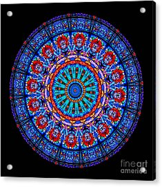 Kaleidoscope Stained Glass Window Series Acrylic Print by Amy Cicconi