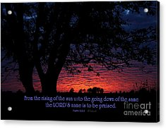 Kansas Sunset - Psalm 113 Acrylic Print