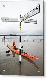 Kayakers In The Flood Waters Acrylic Print