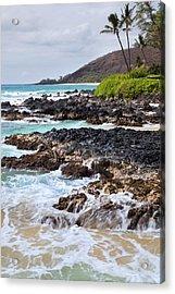 Keanae Lava Rock Acrylic Print by Jenna Szerlag