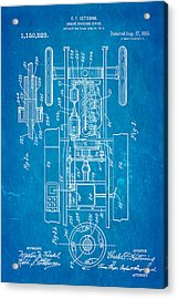 Kettering Electric Ignition Patent Art 1915 Acrylic Print by Ian Monk