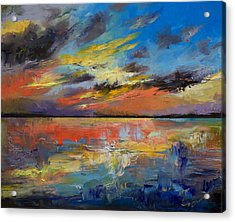Key West Florida Sunset Acrylic Print by Michael Creese
