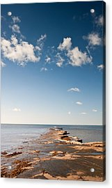 Kimmeridge Bay Seascape  Acrylic Print by Matthew Gibson