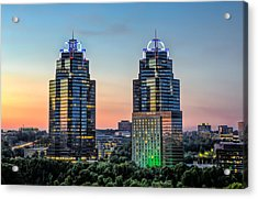 King And Queen Buildings Acrylic Print by Anna Rumiantseva