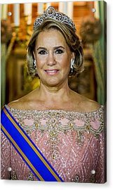 King And Queen Of The Netherlands Visit Luxembourg : Day One Acrylic Print by Patrick van Katwijk
