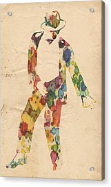 King Of Pop In Concert No 6 Acrylic Print by Florian Rodarte