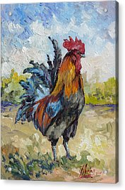 King Of The Barnyard Acrylic Print