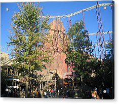 Kings Dominion - Volcano - 12121 Acrylic Print by DC Photographer