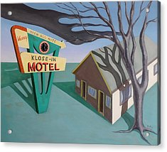 Acrylic Print featuring the painting Klose-in Motel by Sally Banfill