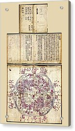 Korean World Map Acrylic Print by Library Of Congress, Geography And Map Division