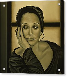 Kristin Scott Thomas Acrylic Print by Paul Meijering