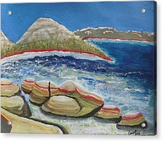 Kudos To Kondos At The Lake Acrylic Print by Carol Duarte