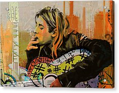 Kurt Cobain Acrylic Print by Corporate Art Task Force