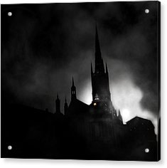 Kyrka Acrylic Print by David Fox