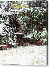 La Neve Sotto La Topia Acrylic Print by Guido Borelli