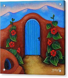 La Puerta Azul Acrylic Print