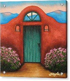 La Puerta Verde Acrylic Print