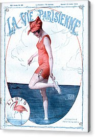 La Vie Parisienne 1918 1910s France Acrylic Print by The Advertising Archives