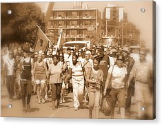 Labor Day Parade Acrylic Print by Valentino Visentini