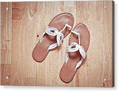 Ladies' Sandals Acrylic Print