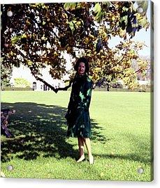 Lady Bird Johnson Under A Tree Acrylic Print