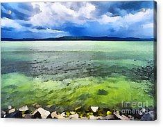 Lake Balaton Hungary Acrylic Print by Odon Czintos