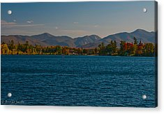 Lake Placid And The Adirondack Mountain Range Acrylic Print