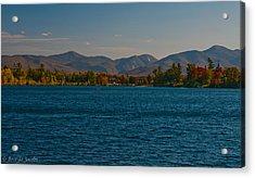 Lake Placid And The Adirondack Mountain Range Acrylic Print by Brenda Jacobs