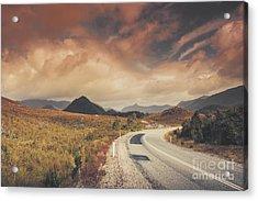 Lake Plimsoll Road. Tasmanian Landscape Acrylic Print by Jorgo Photography - Wall Art Gallery