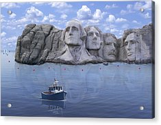 Lake Rushmore - Special Acrylic Print by Mike McGlothlen