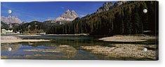 Lake With A Mountain Range Acrylic Print