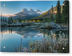 Lake With Mountains In Background Acrylic Print