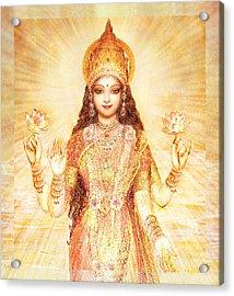 Lakshmi The Goddess Of Fortune And Abundance Acrylic Print